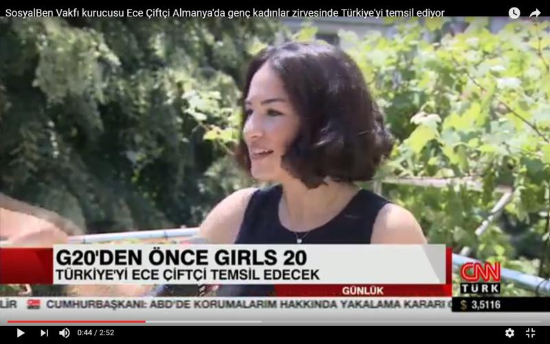 SosyalBen Vakfı kurucusu Ece Çiftçi Almanya'da genç kadınlar zirvesinde Türkiye'yi temsil ediyor