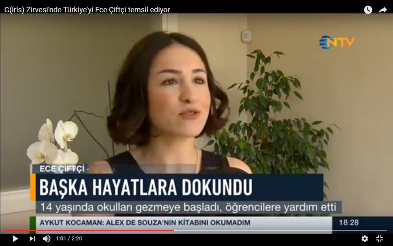 G(irls) Zirvesi'nde Türkiye'yi Ece Çiftçi temsil ediyor