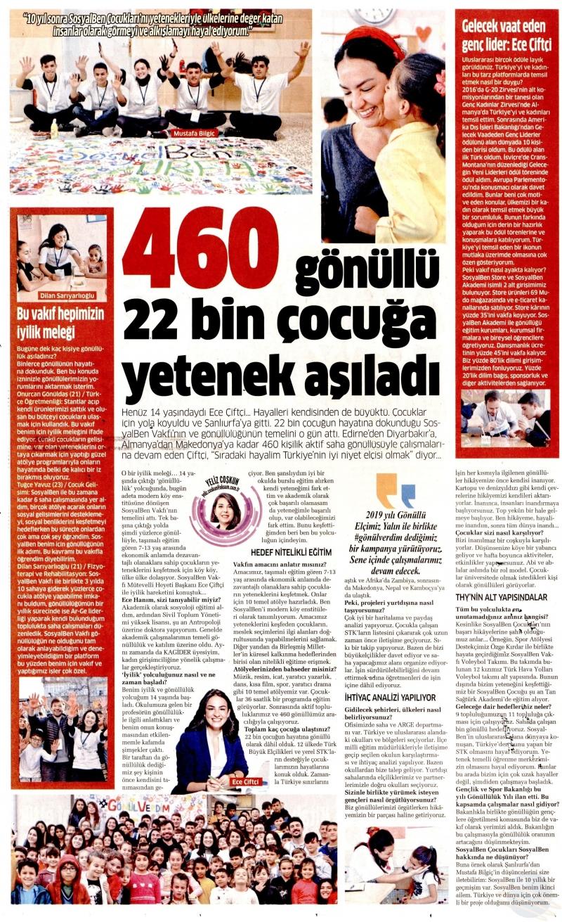 460 Gönüllü 22 Bin Çocuğa Yetenek Aşıladı