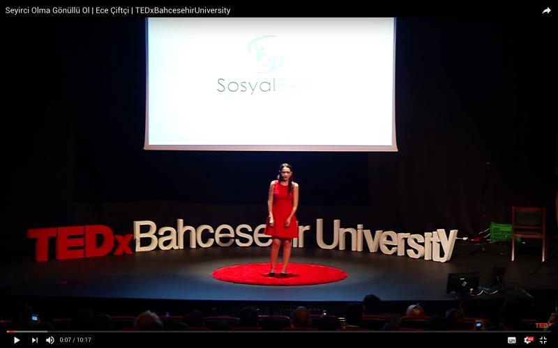 Seyirci Olma Gönüllü Ol - TEDx Bahçeşehir Üniversitesi