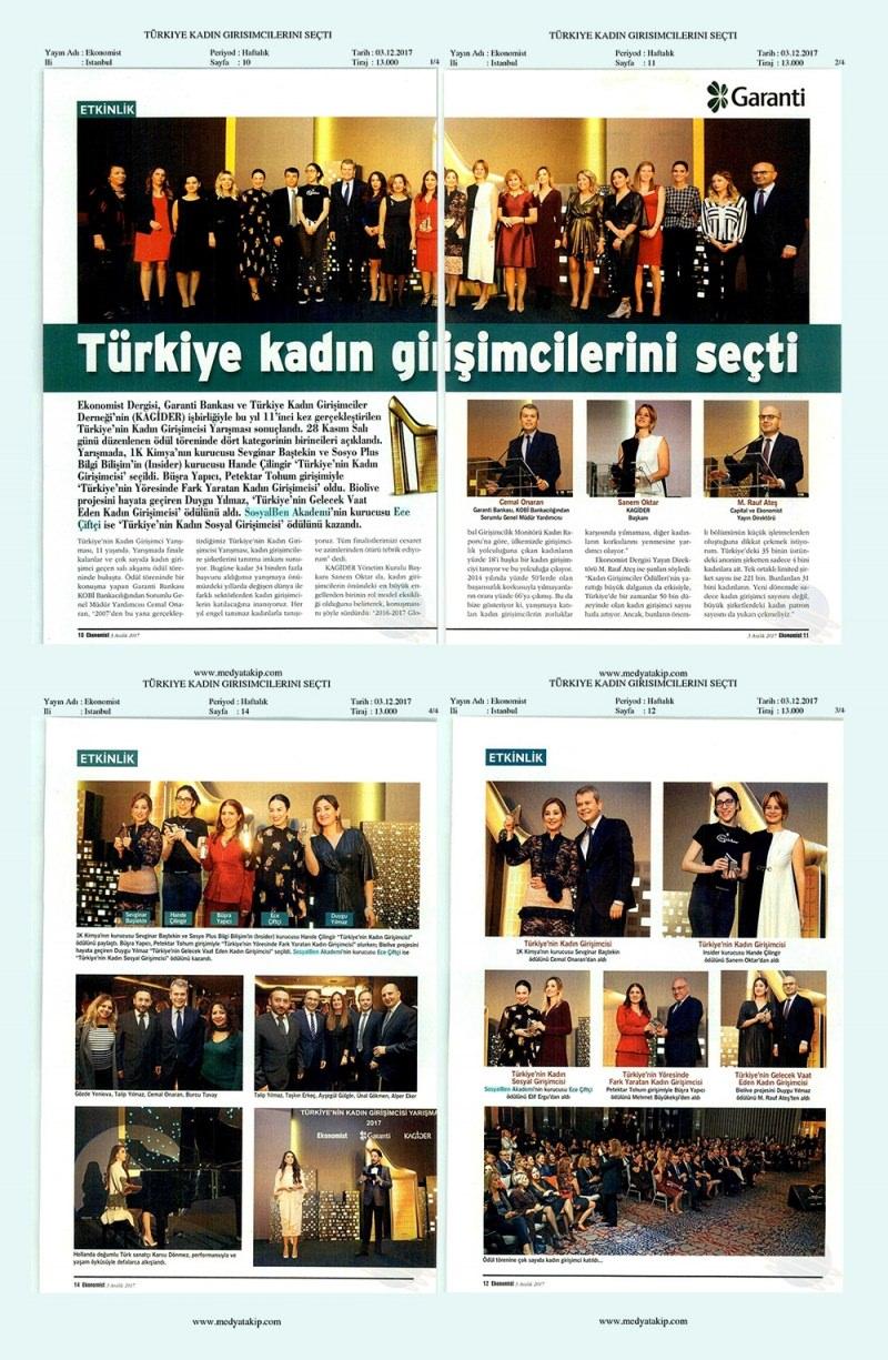 Türkiye kadın girişimcilerini seçti